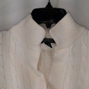 Polo Ralph Lauren Golf Cable Knit Size XL Cream
